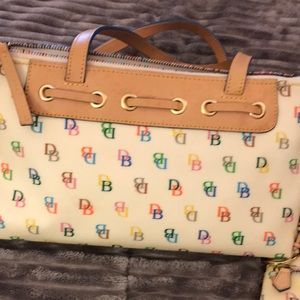 Authentic Dooney & Bourke Rainbow Purse & Coin